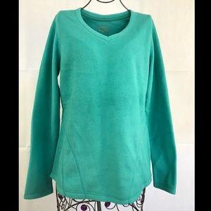NEW TEK GEAR  V Neck Long Sleeve Fleece Pullover